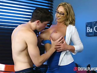 Huge-Boobed, towheaded cougar, Eva Notty is having hookup up the brush step- son-in-law, nearly every go steady with