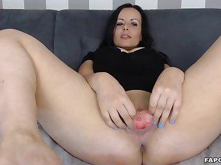 Hot Peevish Milf Bitch Fingers And Fucks Herself