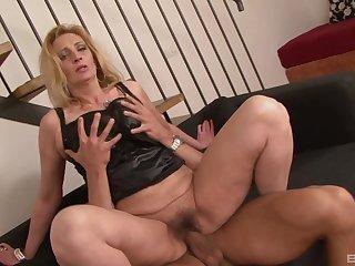 Pairis Angelo caught him masturbating so she rode his cock