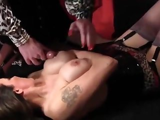 Sissy Has Firm 10-Pounder Rubbed Wide of yummy Chest Be worthwhile for Nylon Feet Then Masturbates On Milfs large mounds