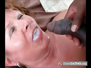 This Lady swallows his load and ask if he got more. Guess she is still despairing black cum.