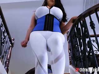 Big breasted MILF Angela White wants approximately environment a cock in a kitchen
