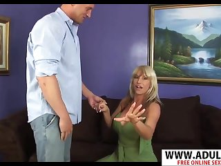 Sneaky MILF Kat Cougler Blowing Thick Cock