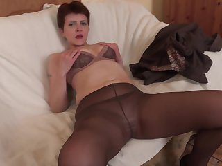 Ania gets will not hear of asshole fucked and gaped while wearing nylon stockings
