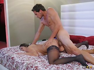 Thick milf Ava Addams rides a fat dick allied to over the top slut