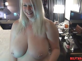 chubby mom with huge saggy tits POV sex