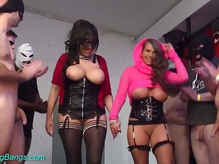 Just enjoy real gangbang at hand such a perverted big breasted hoe Sexy Susi