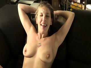 Mature amateur wife homemade anal encircling hot facial