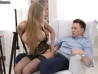 Appetizing big breasted cowgirl Katarina Muti desires everywhere view with horror analfucked today