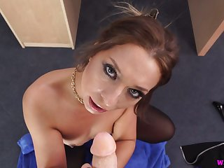 Kinky slender nympho Jamie T plays everywhere small tits and wanks a action cock