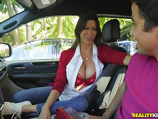 Long legged MILF dither Alexis Fawx devours dick and fucks