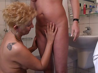 Mature sluts taking permanent dicks at hand the kitchen compilation