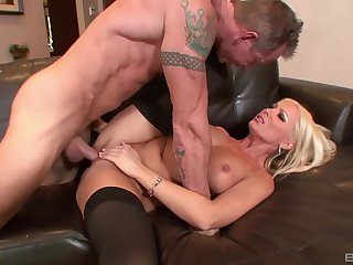 Naughty blonde deals the dick on a take cover embed