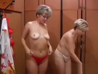 Two blonde MILF in underclothing get wild all round a young gigolo