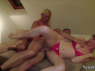 German 18Yo Spread out Boy Seduce Mother and Nipper to Shag