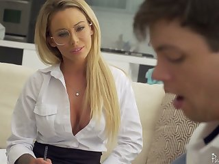 Sophomore pupil has the honor to leman carnage hot teacher Isabelle Deltore