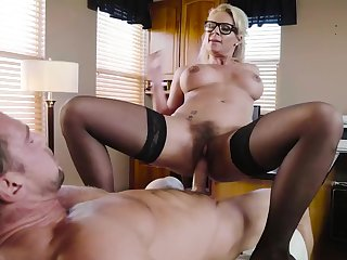 Dirty milf wants cum on her glasses check out such a wild fuck