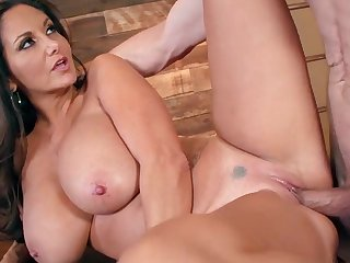 Busty raven triesa out younger guy before office