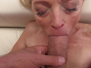 Sweet babe with the addition of amazing granny have fun with big cocks