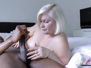Lacey starr is enjoying huge black dick inside her of age pussy