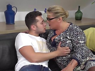 Regrettable mother seduce and fuck lucky son