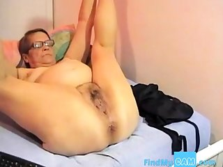 Granny at burnish apply webcam