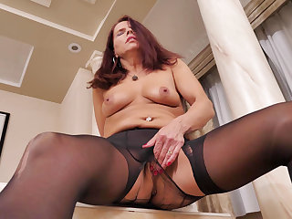 Nyloned milf Confectionery from Canada needs getting off