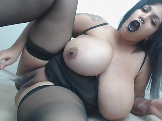 Latina BBW Staggering Solo Self-pollution Mistiness