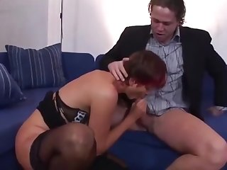 Redhead Lily is sucking dick and masturbating - Hell Porno
