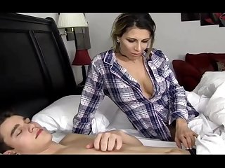 Naughty Stepmother Fucks Their way Sleeping Step Son