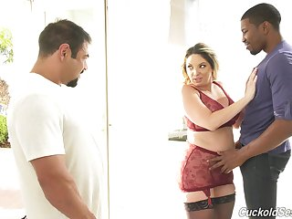 Lovely Kiki Daire gets her pussy pounded after a long time voayer watches