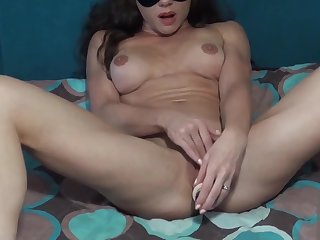 Muscular Woman Masturbate Pussy Dildo - Female Orgasm