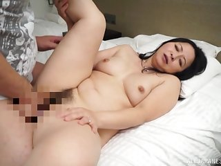 Japanese mom roughly fucked by her personate mom
