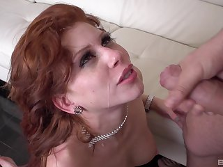 Sexy black costume on Brooklyn Leei's body makes her hornier than continually