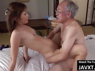 Exciting Asian Young Babe Had Coitus by Grandpa - age-old and 18yo schoolgirl