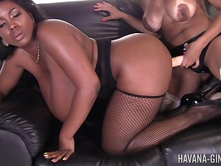 Two horny matures Havana Upper-cut and Maserati XXX sex with a strapon