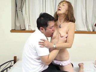 Mature Japanese tries nephew for very many protecting of sex
