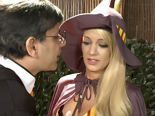 Harry Potter porn parody with Louise Muirhead and Sensual Jane