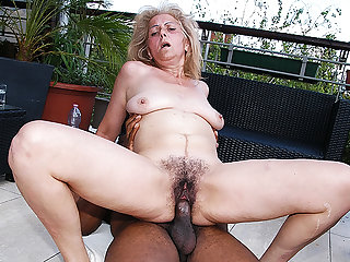 soft 72 years old granny first time interracial