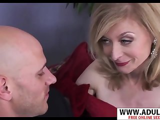 GILF take black gloves Nina Hartley hot porn video