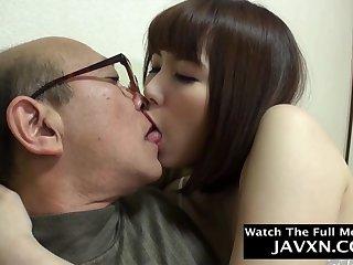 Thrilling Japanese Teen Fucks Involving Old Geezer
