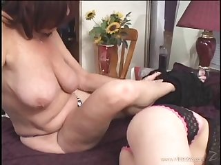 Mature lesbian in high heels gets licked and fingered hardcore in POV