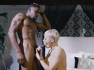 Muscular scrounger takes good care of big ass mature's affectionate pussy and tits