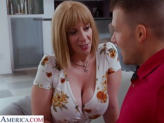 Big bed basically cougar is expecting for sex with her stepson's friend