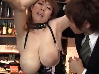 Big tits bar owner.