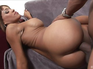 Big booty ebony main kingdom prominently BBC in both her shaved holes