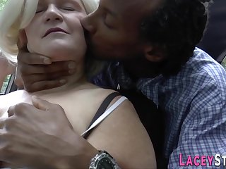 Mom brit giving head and riding