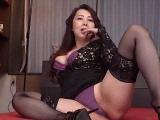Clothed Japanese grown-up is soon wide border on take down her knickers