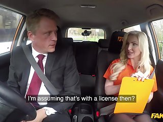 Festival lady, Georgie Lyall is fucking her driving teacher, in the with respect to of a motor
