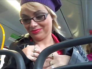 Three hot German Babes doing good in a public bus! Holy crap!